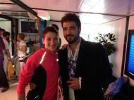Con Antonio Orozco en la Carrera de la Mujer